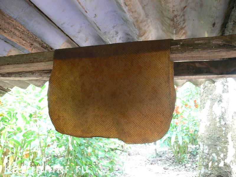 Резина после сушки сначала приобретает золотистый цвет
