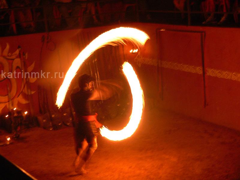 Калари шоу. Умение взаимодействовать с огнем.