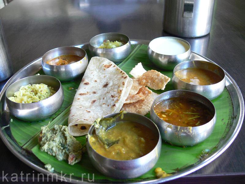 Вегетарианское Тали (veg thali)
