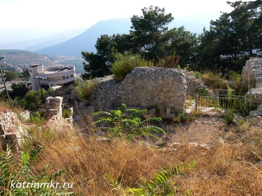Цфат. Руины цитадели крестоносцев.