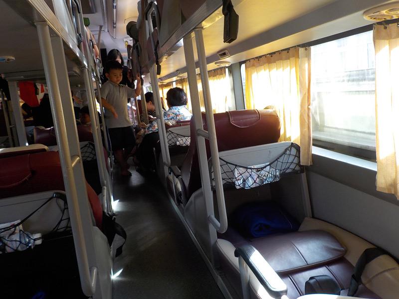 автобус до Хошимина с острова Фукуок, в него пересели после парома